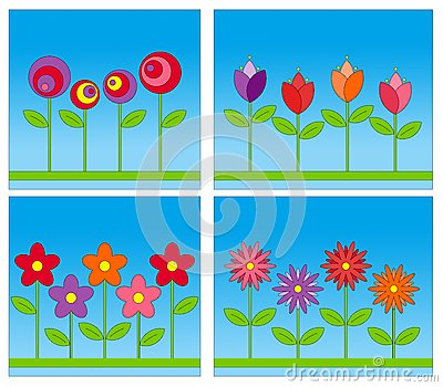 Colorful Abstract Flowers Background Royalty Free Stock Image - Image: 15141176