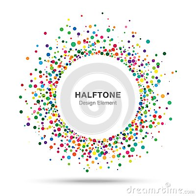 Colorful Abstract Halftone Logo Design Element Vector Illustration