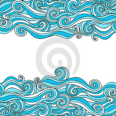 Free Colorful Abstract Hand-drawn Pattern, Waves Background Royalty Free Stock Photography - 50394807