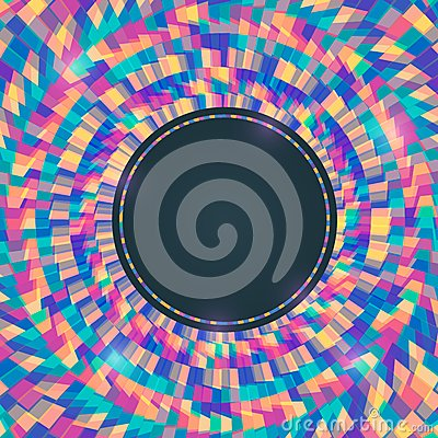 Colorful Abstract Invitation Background with Round Place for Te