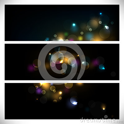 Colorful abstract lights on dark background