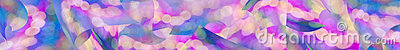 Colorful abstract panorama web banner background