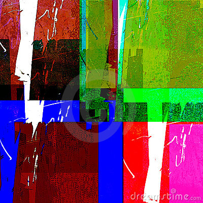 Colorful abstract rectangles