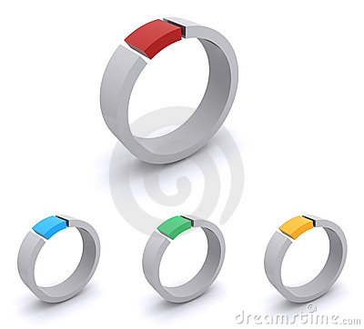 Colorful abstract rings