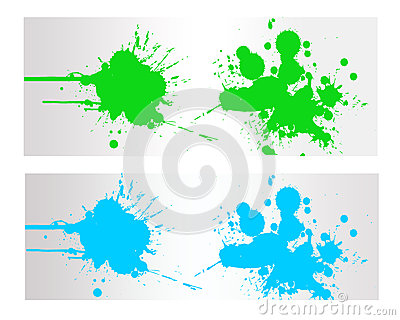 Colorful Abstract  Splash Banner