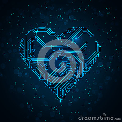 Free Colorful Abstract Technology Heart. Stock Photo - 30314330