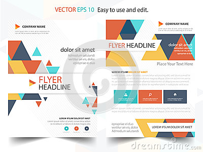Colorful Abstract Triangle Annual Report Brochure Design Template ...