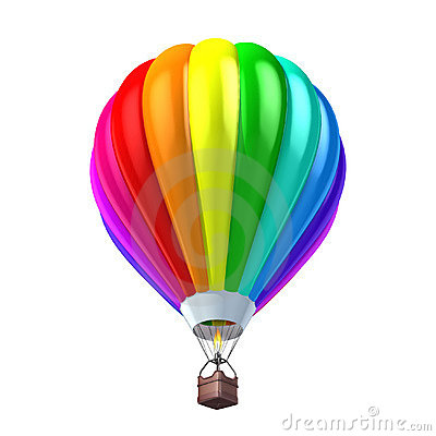 Colorful air balloon 3d illustration