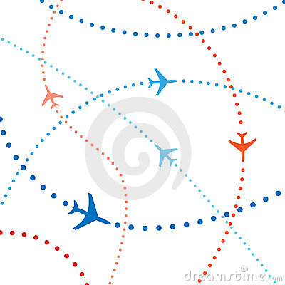 Free Colorful Airline Planes Travel Flights Air Traffic Royalty Free Stock Photo - 14630865