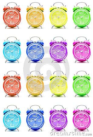 Colorful alarm clocks