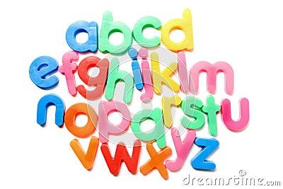 Colorful alphabet.