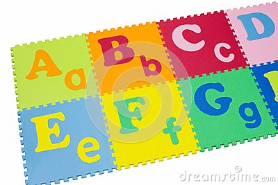 Colorful alphabet puzzle.