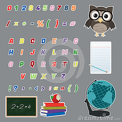 Free Colorful Alphabet Stickers Royalty Free Stock Images - 29190399