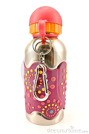 Free Colorful Aluminum Water Flask Royalty Free Stock Photography - 21345487