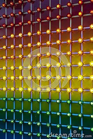 Colorful amusement park lights