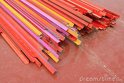 Colorful angle steel