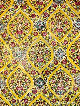 Colorful antique artwork of many God