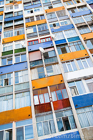 Free Colorful Apartment Building Stock Photo - 19892870