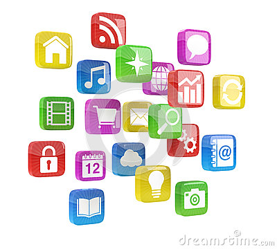 Colorful app icons