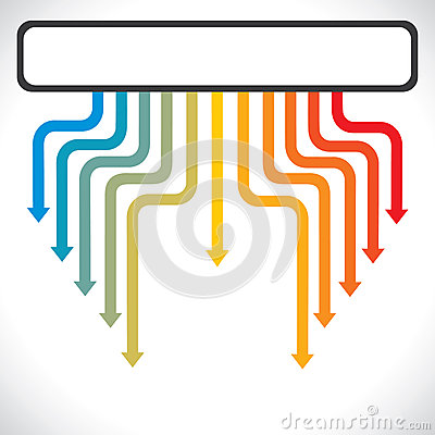 Colorful arrow background stock