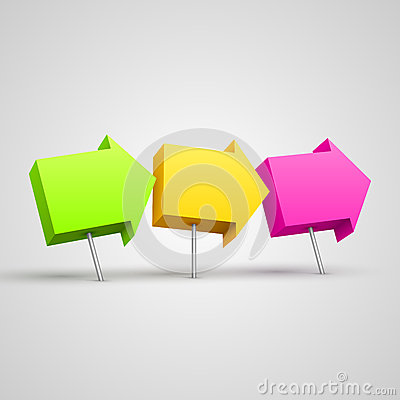 Free Colorful Arrow Pushpins 3D Stock Photography - 29111792