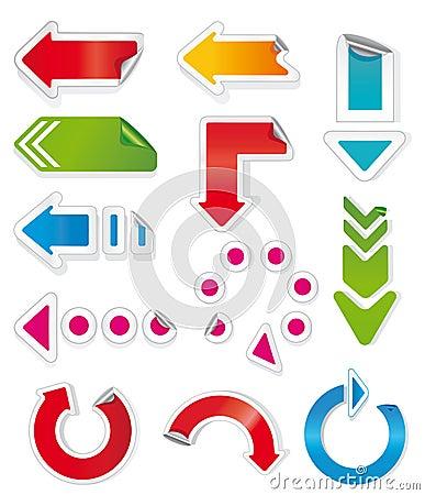 Colorful arrows.