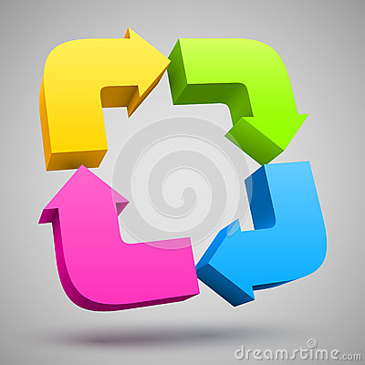 Free Colorful Arrows 3D Royalty Free Stock Photography - 29121137