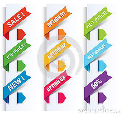Free Colorful Arrows And Labels. Royalty Free Stock Image - 28200466