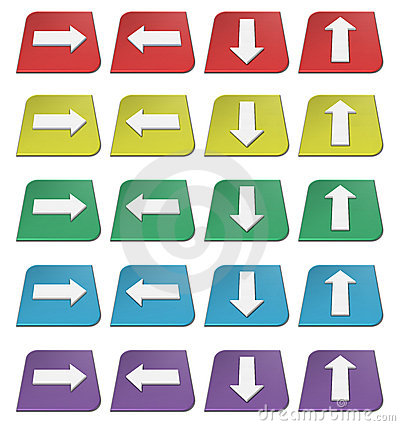 Colorful arrows icons
