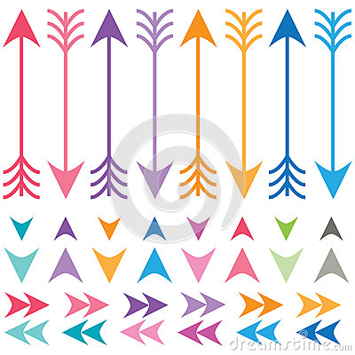 Free Colorful Arrows Set Stock Image - 57015811