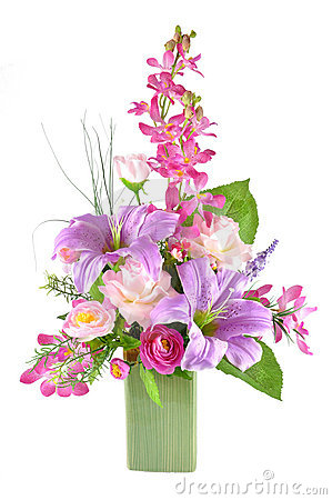 Free Colorful Artificial Flower Arrangement Royalty Free Stock Image - 21951946