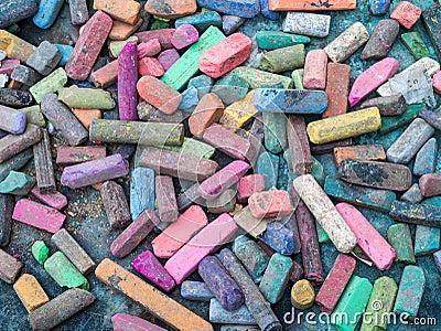 Colorful Artist Chalk Background