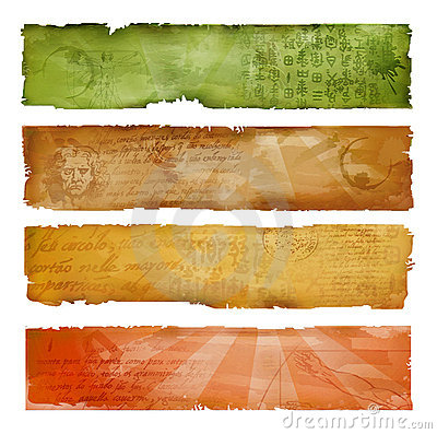 Colorful artistic banners
