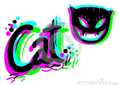 Colorful artistic cat