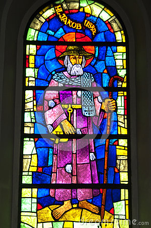 Free Colorful Artwork Of Saint James,  Stained-glass Window Royalty Free Stock Photography - 68636417