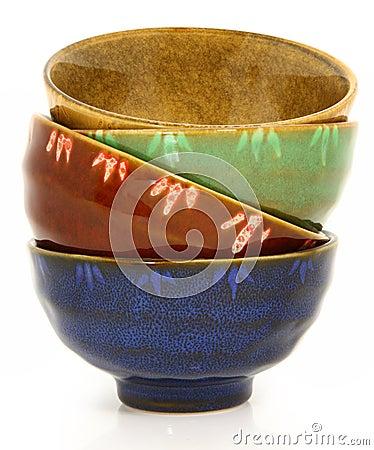 Free Colorful Asian Ceramic Bowls Royalty Free Stock Photo - 19081205