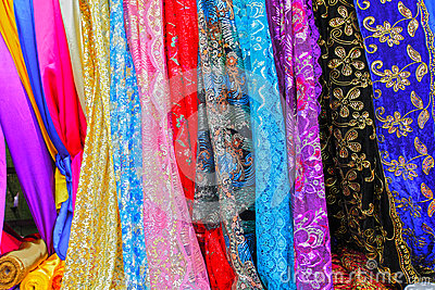 Colorful Asian fabrics