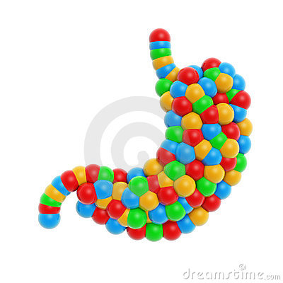 Colorful atom stomach