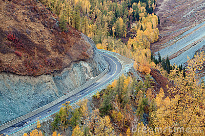 Colorful autumn of China Xinjiang