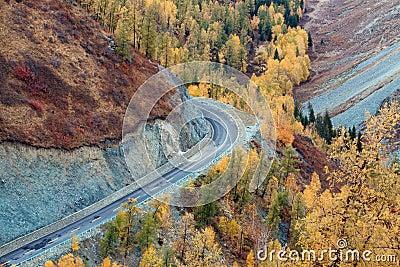 Colorful autumn of China Xinjiang
