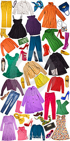 Free Colorful Autumn Clothing Background Royalty Free Stock Image - 21521386