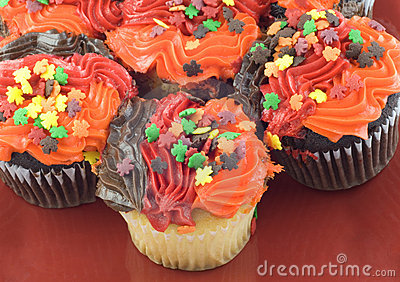 Colorful Autumn Cupcakes