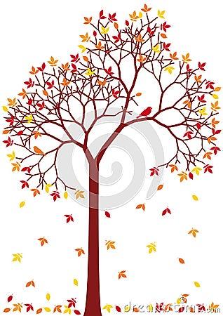 Free Colorful Autumn Tree Stock Image - 15640811
