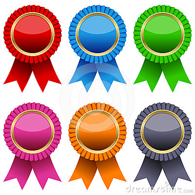 Colorful Award Ribbons Set