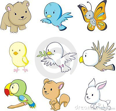 Colorful Baby Animals