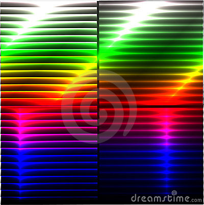 Colorful Background with 3D Lights Effect