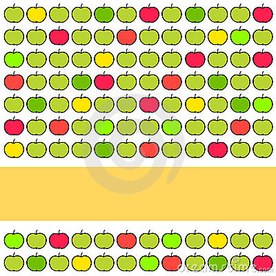 Colorful background with apples