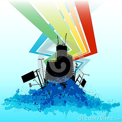 Colorful background building vector