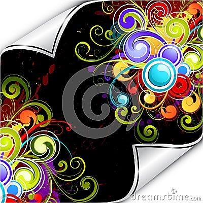 Colorful background flourish