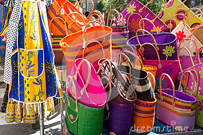Colorful bags French market
